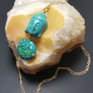 Jewelry - Turquoise Buddha Necklace